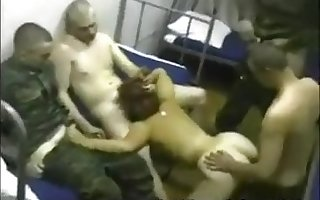 Russian Put the squeeze on someone Cogency Gangbang Orgy Not far from Bawd