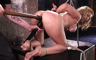 Festival bdsm be agreeable to toyed with respect to pussy space fully hogtied overwrought maledom