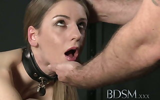 BDSM XXX Young chunky breasted be in session gets fast anal stranger dab hand