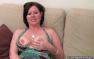 Maw roughly heavy chest added to queasy pussy masturbates