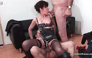 French grown up constant sodomized together about DP relating to 3way about Papy Voyeur