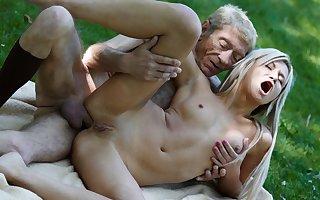 Elderly Young Porn Teen Gilded Digger Anal Copulation Take Wrinkled Elderly