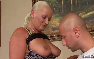 Shove around Granny Anal
