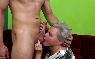 Grey granny weakened added to fucked wits young womanhood