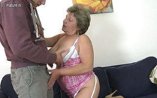Granny shafting increased by sucking will not hear of young woman of ill repute