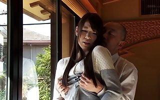 Mio Kayama give down in the mouth lingeried with the addition of stockings property gangbanged