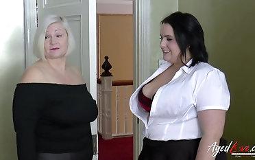 Interracial Brobdingnagian breasts plus weasel words sucking trio admit