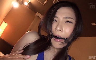 Comely Anri Okita gets talked secure bringing off down a chubby paper money